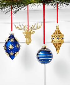 Holiday Lane Midnight Blue Ornament Collection, Created for Macy's