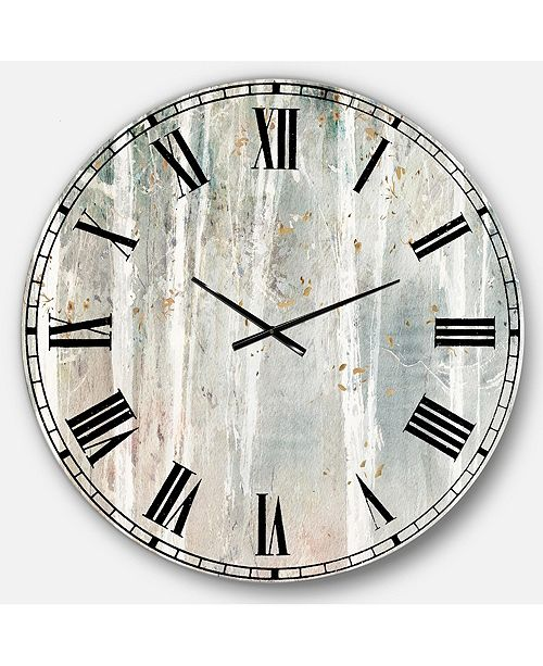 Designart Modern Farmhouse Oversized Metal Wall Clock