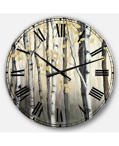 Designart Cabin and Lodge Oversized Metal Wall Clock