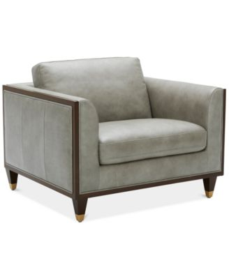 """CLOSEOUT! Reavere 43"""" Leather Chair"""