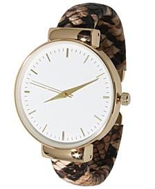 Women's Python Cuff Bracelet Watch 38mm