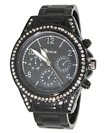 Women's Rhinestone Bezel Bracelet Watch 38mm