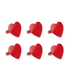Heart Napkin Ring, Set of 6