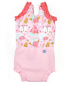 Baby and Toddler Girls Happy Nappy Swim Diaper Swimsuit
