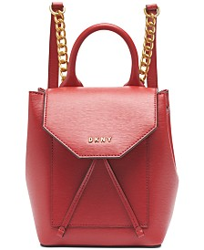 DKNY Alexa Leather Backpack, Created for Macy's