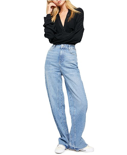 Free People Relaxed Straight Slouch Jeans