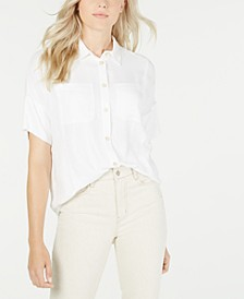 Boxy Button-Front Shirt