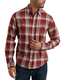Lucky Brand Men's Alameda Regular-Fit Plaid Western Shirt