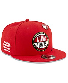 Big Boys Atlanta Hawks 2019 On-Court Collection 9FIFTY Snapback Cap