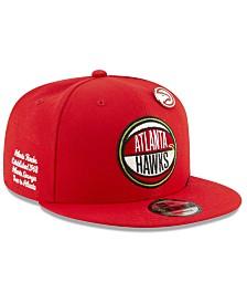 New Era Big Boys Atlanta Hawks 2019 On-Court Collection 9FIFTY Snapback Cap