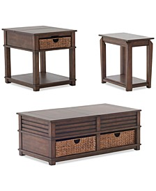 Strickland Table Furniture, 3-Pc. Set (Cocktail Table, End Table & Chairside Table)