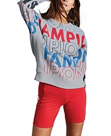 Logo-Print Reverse Weave Sweatshirt