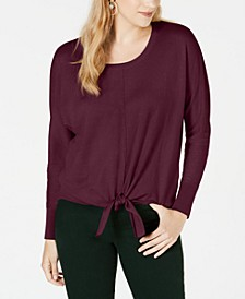 Tie-Front Sweater, Created for Macy's