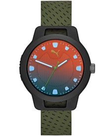 Puma Men's Reset Silicone Strap Watch 44mm