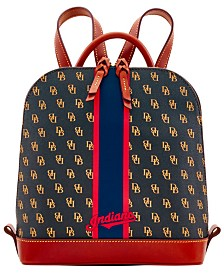 Dooney & Bourke Cleveland Indians Zip Pod Stadium Signature Backpack