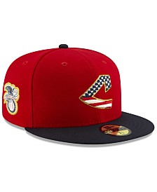 New Era Boys' Cleveland Indians Stars and Stripes 59FIFTY Cap
