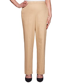 Street Smart Stretch Straight-Leg Pull-On Pants