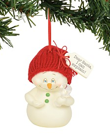 Department 56 Snowpinions Dear Santa, I Can Explain Ornament