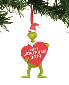 Department 56 Disney Grinch with Heart Dated/Sentiment Ornament