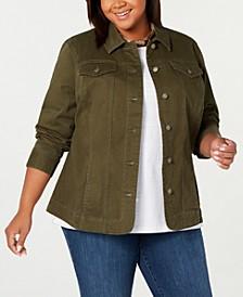 Plus Size Denim Jacket, Created for Macy's