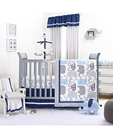 Little Peanut Navy 4-Piece Crib Bedding Set