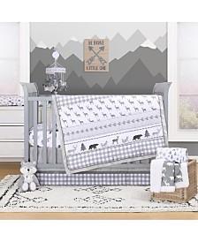 The Peanutshell Forest Dream 3-Piece Crib Bedding Set