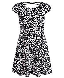 Big Girls Animal-Print Crisscross Strap Dress, Created for Macy's