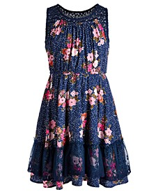Big Girls Floral Challis Dress, Created for Macy's