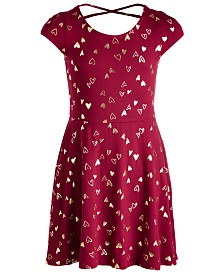 Epic Threads Big Girls Foil-Print Crisscross Strap Dress, Created for Macy's
