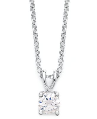 Certified Diamond Pendant Necklace in 18k White Gold (1/2 ct. t.w.), Created for Macy's