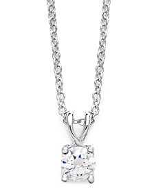 X3 Certified Diamond Pendant Necklace in 18k White Gold (1/2 ct. t.w.), Created for Macy's