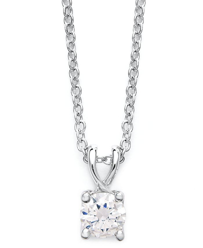 X3 - Certified Diamond Pendant Necklace in 18k White Gold (1/2 ct. t.w.)