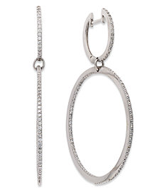 Diamond Double-Link Hoop Earrings in Sterling Silver (3/4 ct. t.w.)