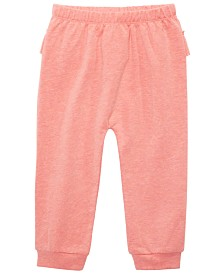 First Impressions Baby Girls Ruffle Back Jogger Pants, Created for Macy's