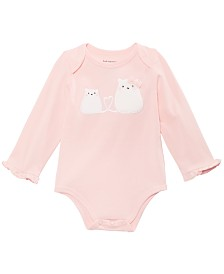 First Impressions Baby Girls Cats Bodysuit, Created for Macy's