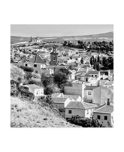 """Trademark Global Philippe Hugonnard Made in Spain 3 White Town of Antequera B&W Canvas Art - 15.5"""" x 21"""""""