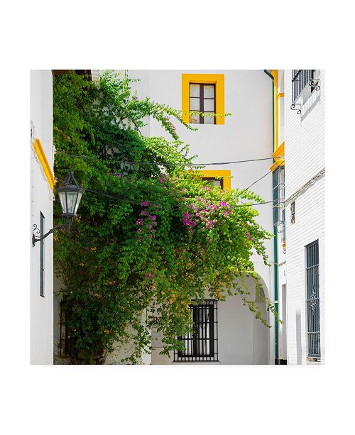 "Trademark Global Philippe Hugonnard Made in Spain 3 Architecture and vegetation in Seville Canvas Art - 19.5"" x 26"""