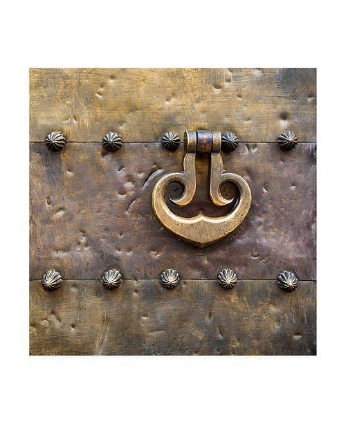 """Trademark Global Philippe Hugonnard Made in Spain 3 Door Knocker on Copper Door III Canvas Art - 36.5"""" x 48"""""""