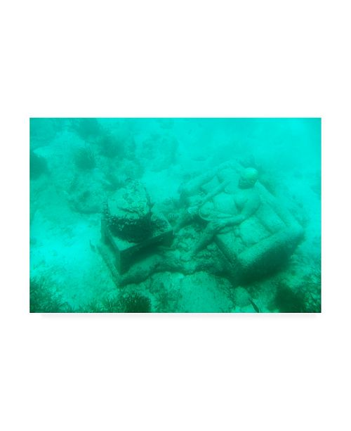 """Trademark Global Philippe Hugonnard Viva Mexico Sculptures at bottom of sea in Cancun III Canvas Art - 15.5"""" x 21"""""""