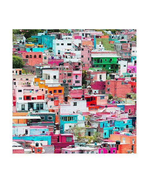 """Trademark Global Philippe Hugonnard Viva Mexico 3 Guanajuato Colorful Cityscape IV Canvas Art - 19.5"""" x 26"""""""