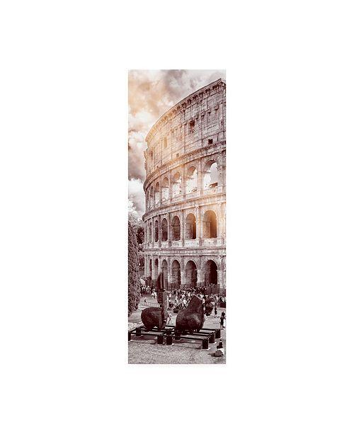 "Trademark Global Philippe Hugonnard Dolce Vita Rome 2 the Colosseum XII Canvas Art - 15.5"" x 21"""