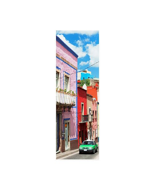 "Trademark Global Philippe Hugonnard Viva Mexico 2 Green Taxi Canvas Art - 19.5"" x 26"""