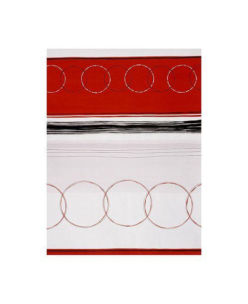 "Trademark Global Pablo Esteban Circles with Horizontal Stripes Canvas Art - 19.5"" x 26"""
