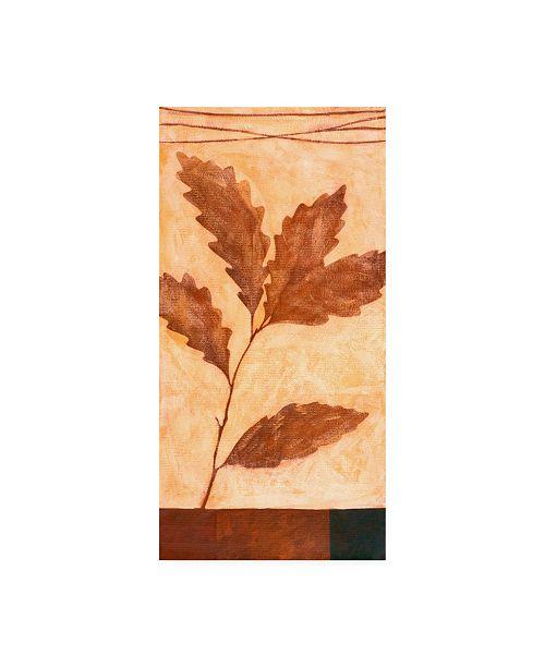 "Trademark Global Pablo Esteban Red Leaves on Beige Canvas Art - 19.5"" x 26"""