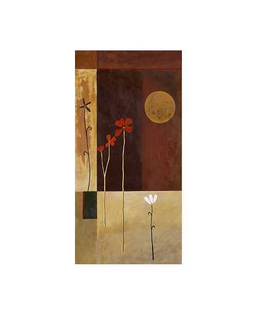 "Trademark Global Pablo Esteban Flowers with Full Moon Canvas Art - 36.5"" x 48"""