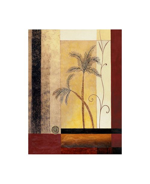 "Trademark Global Pablo Esteban Palm Tree Painting Canvas Art - 15.5"" x 21"""