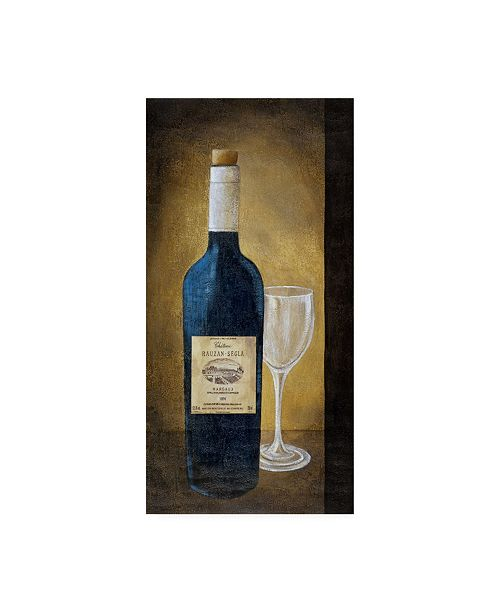 """Trademark Global Pablo Esteban A Bottle of Wine with Glass Canvas Art - 27"""" x 33.5"""""""