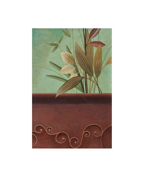 "Trademark Global Pablo Esteban Greenery with Blue Background Canvas Art - 36.5"" x 48"""