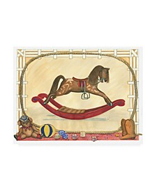 "Tara Friel Rocking Horse II Childrens Art Canvas Art - 36.5"" x 48"""