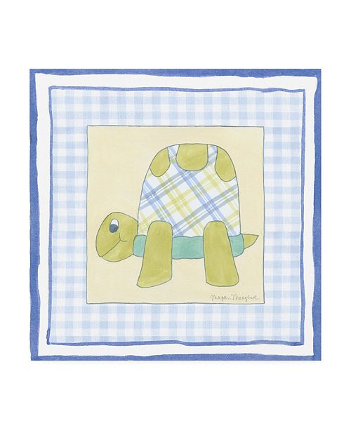 """Trademark Global Megan Meagher Turtle with Plaid III Childrens Art Canvas Art - 19.5"""" x 26"""""""